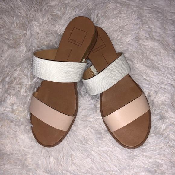 d542f552475a Dolce Vita Shoes - Dolce Vita Double Strap Slide Sandal Nude Sz. 8